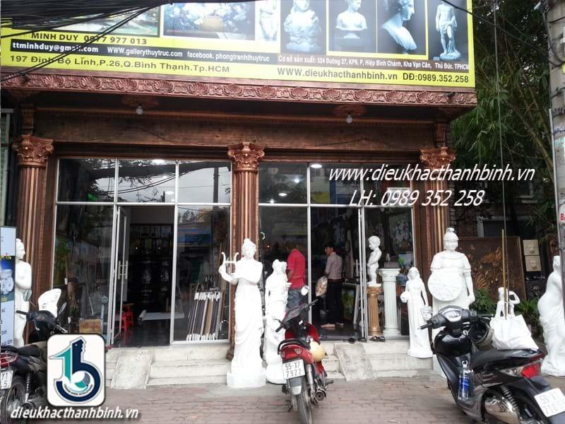 cửa hàng trưng bày - Công trình tiêu biểu của Điêu Khắc Thanh Bình