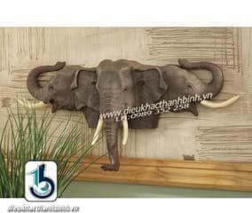 Điêu khắc phù điêu con voi