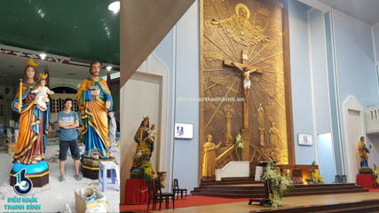 tượng thánh Giuse và Đức MẸ