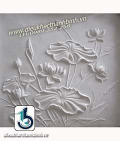 phù điêu hoa sen 31