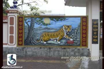 phù điêu con hổ