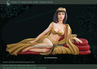 phù điêu nữ hoàng cleopatra