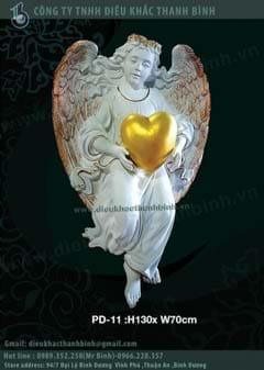 phù điêu thiên thần tình yêu