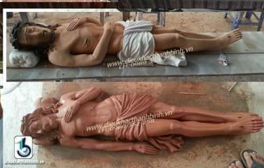 tượng chúa táng xác