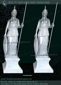 tượng nữ thần chiến binh