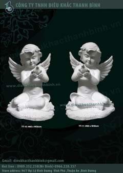 tượng thiên thần ôm chim
