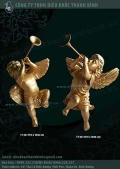tượng thiên thần thổi kèn