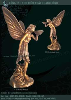 tượng thiên thần trang trí sân vườn