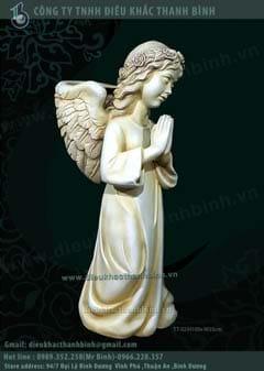 tượng thiên thần trồng cây