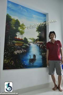 vẽ tranh tường 2